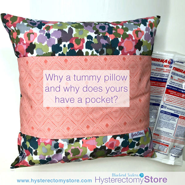 Why does a tummy pillow have a pocket?