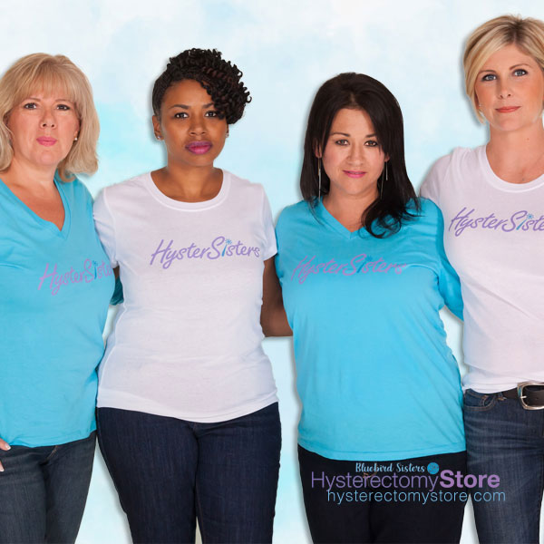 HysterSisters t-shirts in the Hysterectomy Store