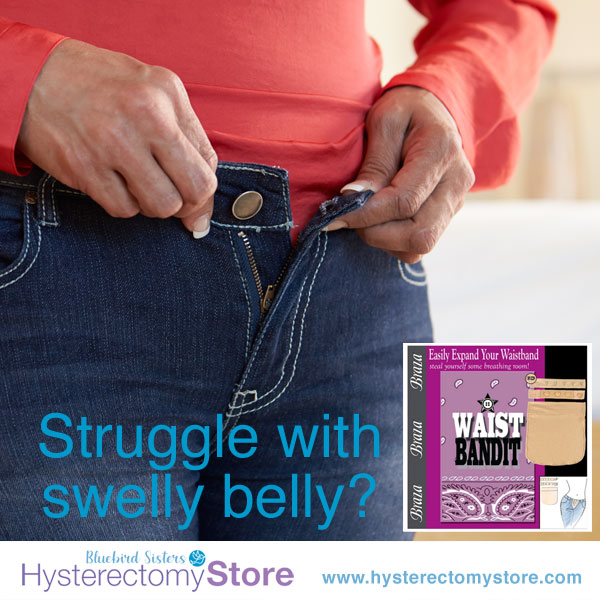 waist bandit to help you get back into your pants after hysterectomy