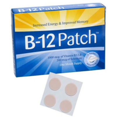 B-12 patch for B-12 deficiency