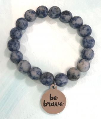 Blue and Gold Matte Natural Stone