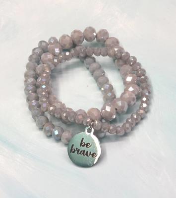 Stone and Bead Bracelet
