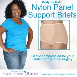Nylon Panel Support Brief by Bali for abdominal surgery recovery