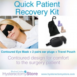 Quick Patient Recovery Kit with Eye mask, earplugs and travel pouch