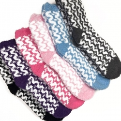 Fuzzy socks for your warmth and comfort during hysterectomy recovery.