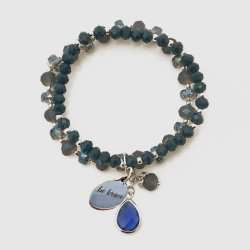 Be Brave Navy Glass Bead Bracelet