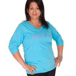 HysterSisters Teal 3/4 Sleeve Shirt